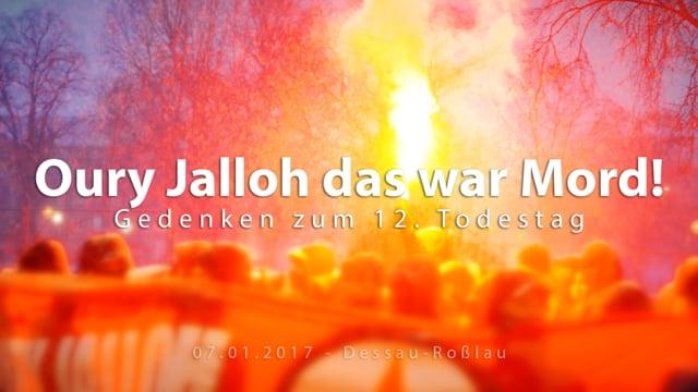 Gedenken an Oury Jalloh zum 12. Todestag in Dessau-Roßlau