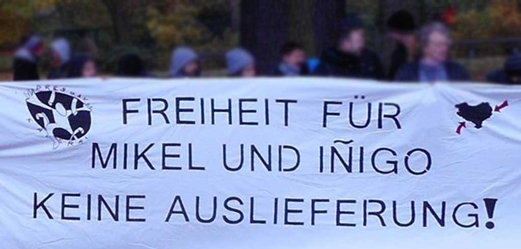 """Text der Soligruppe """"Freiheit für Iñigo und Mikel"""""""